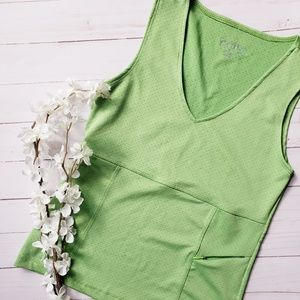 Athleta Tank Green With Pocket Small